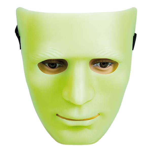 Självlysande Staty Mask - One size