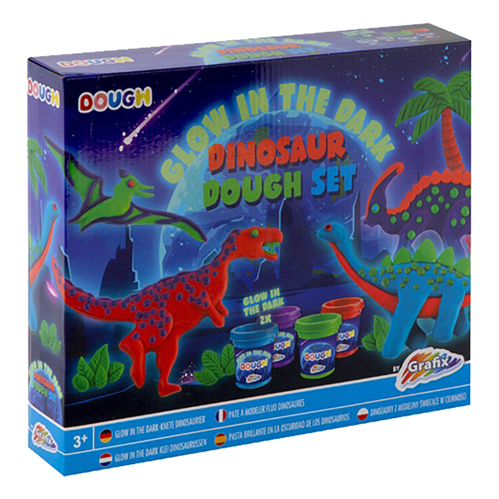 Självlysande Trolldeg Dinosaurier