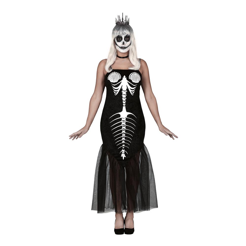 Sjöjungfru Skelett Maskeraddräkt - Medium