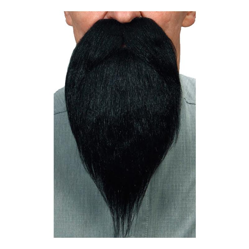 Skägg med Mustasch Lång Svart