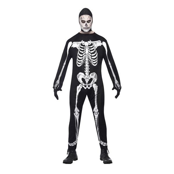 Skelett Jumpsuit Maskeraddräkt - Medium