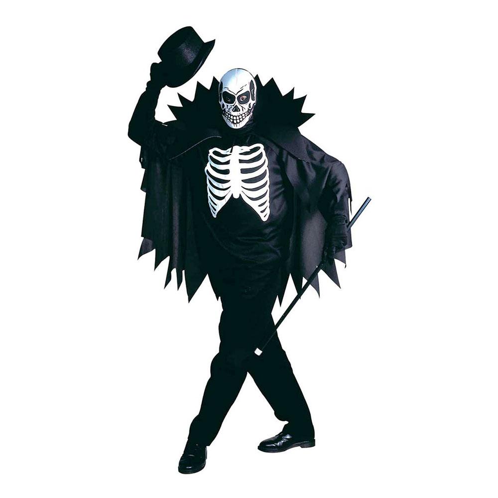 Skelett med Cape Maskeraddräkt - Small