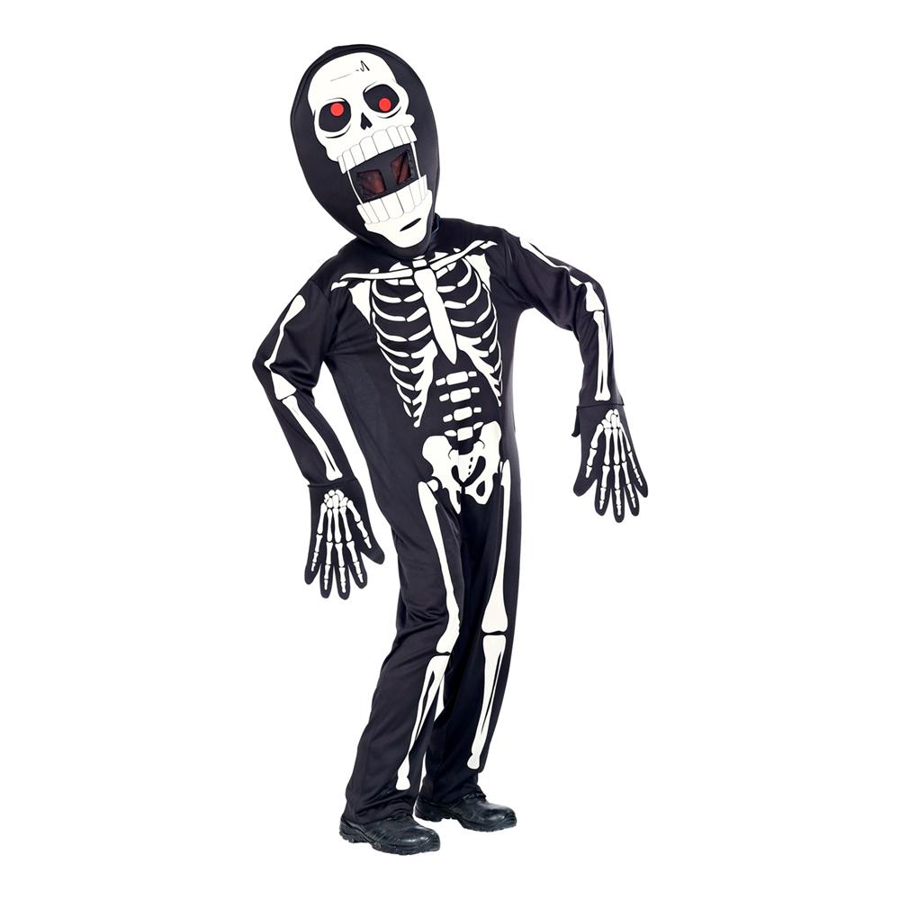 Skelett med Överdimensionerat Huvud Maskeraddräkt - Small/Medium