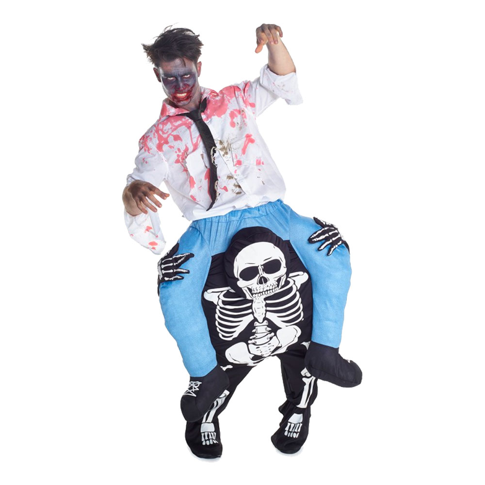 Skelett Piggyback Maskeraddräkt - One size