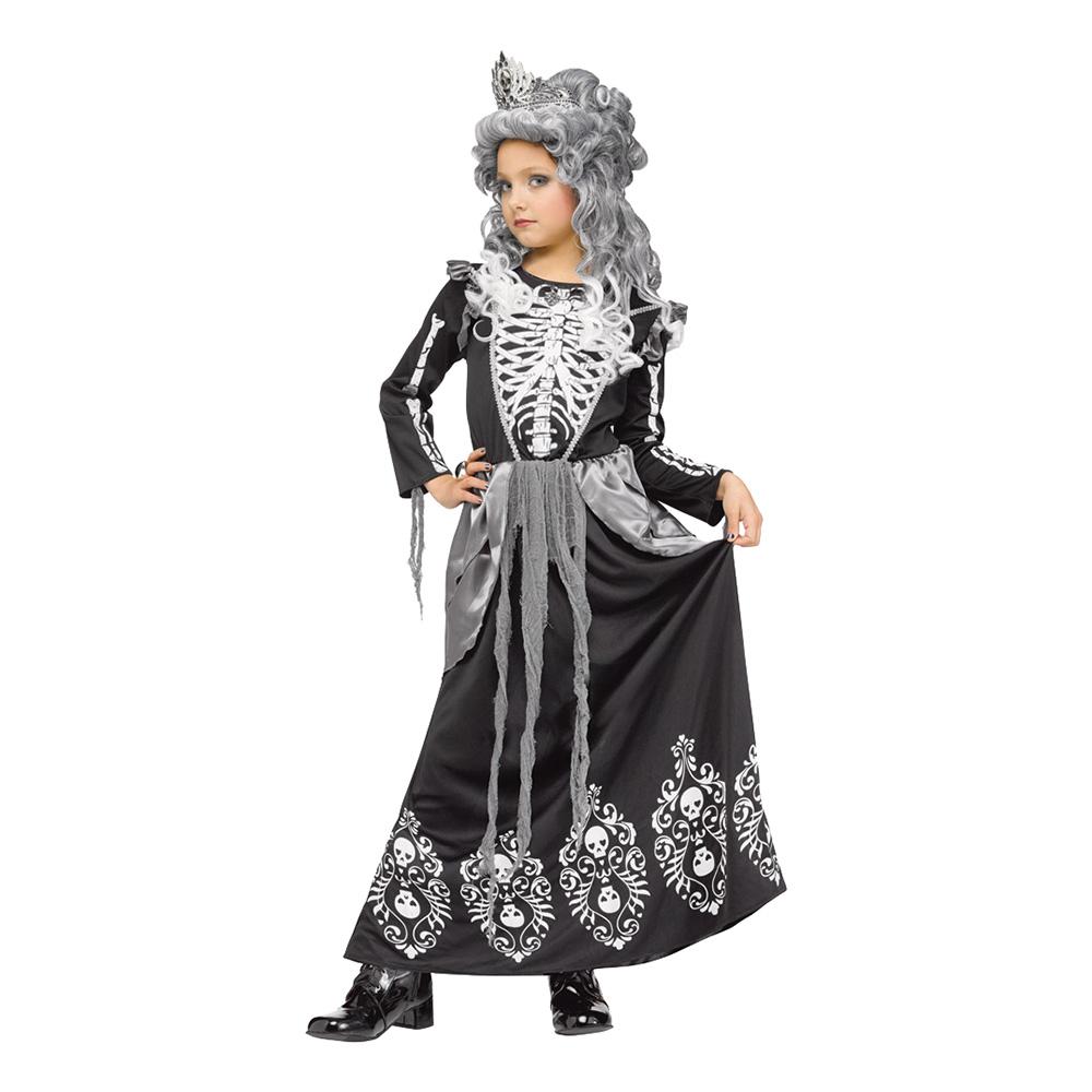 Utklädningsdräkter - Skelettdrottning Barn Maskeraddräkt - Small