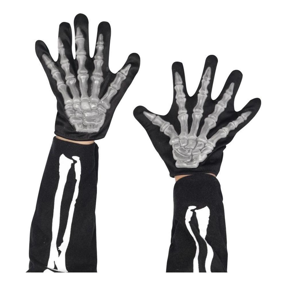 Skeletthandskar för Barn - One size