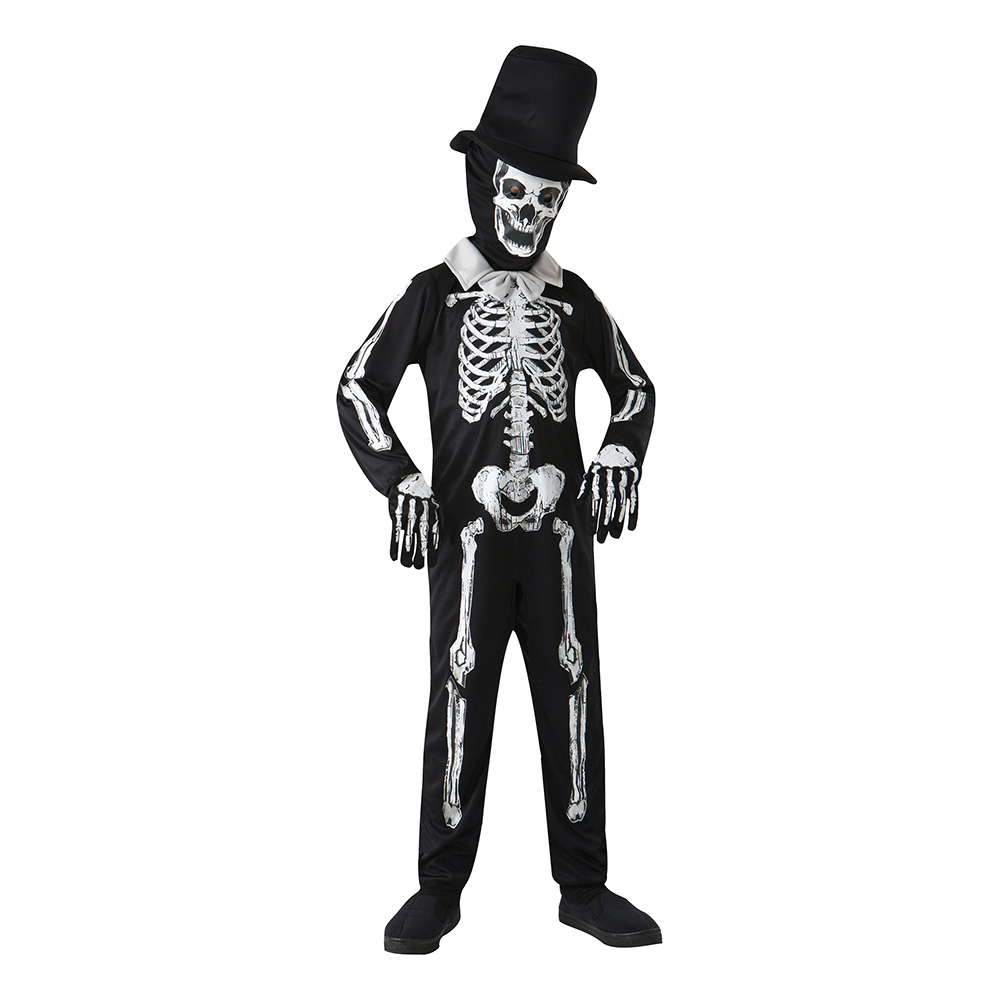 Skelettherre Barn Maskeraddräkt - Small
