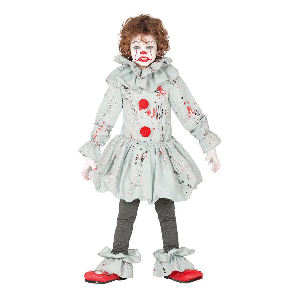 Skräckclown Barn Maskeraddräkt - Small
