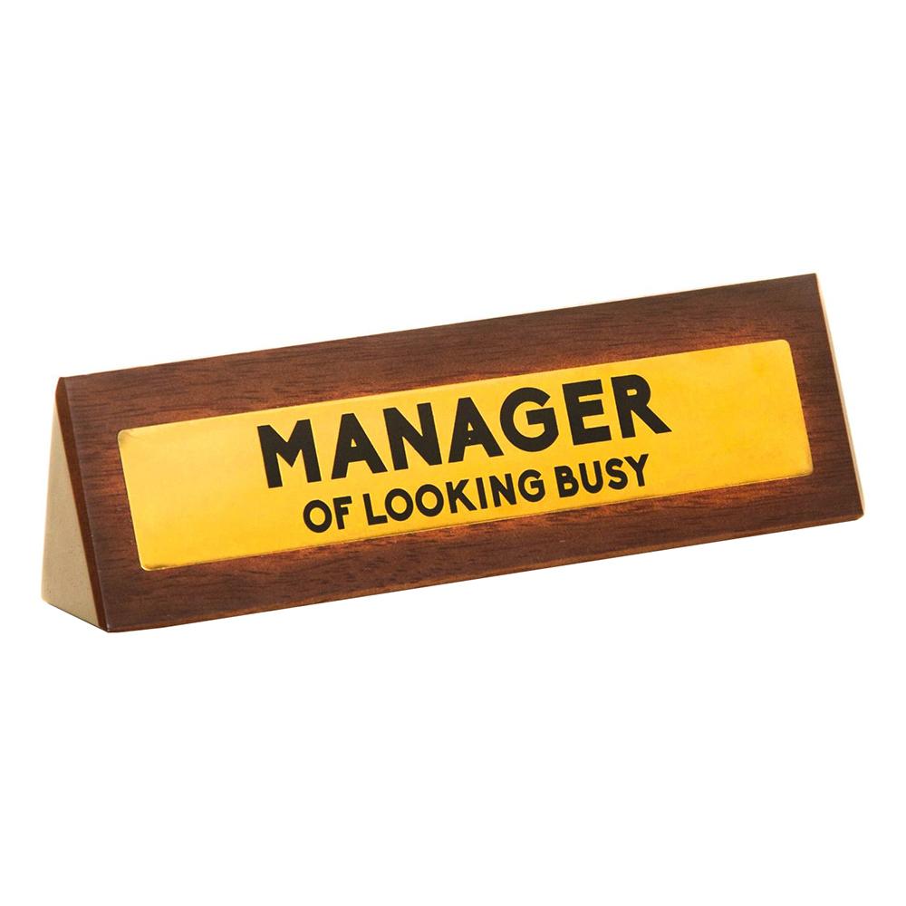 Skrivbordsskylt Manager