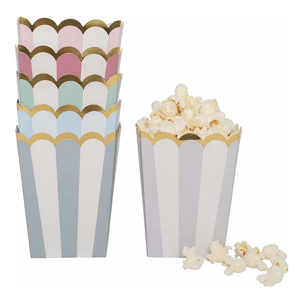 Snackboxar Pastell Guld - 12-pack