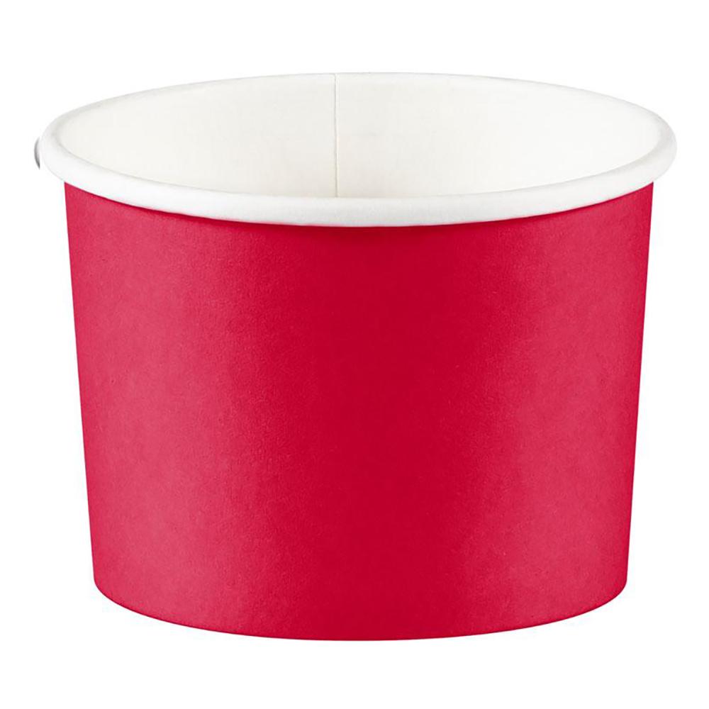 Snacksskålar Röd - 8-pack