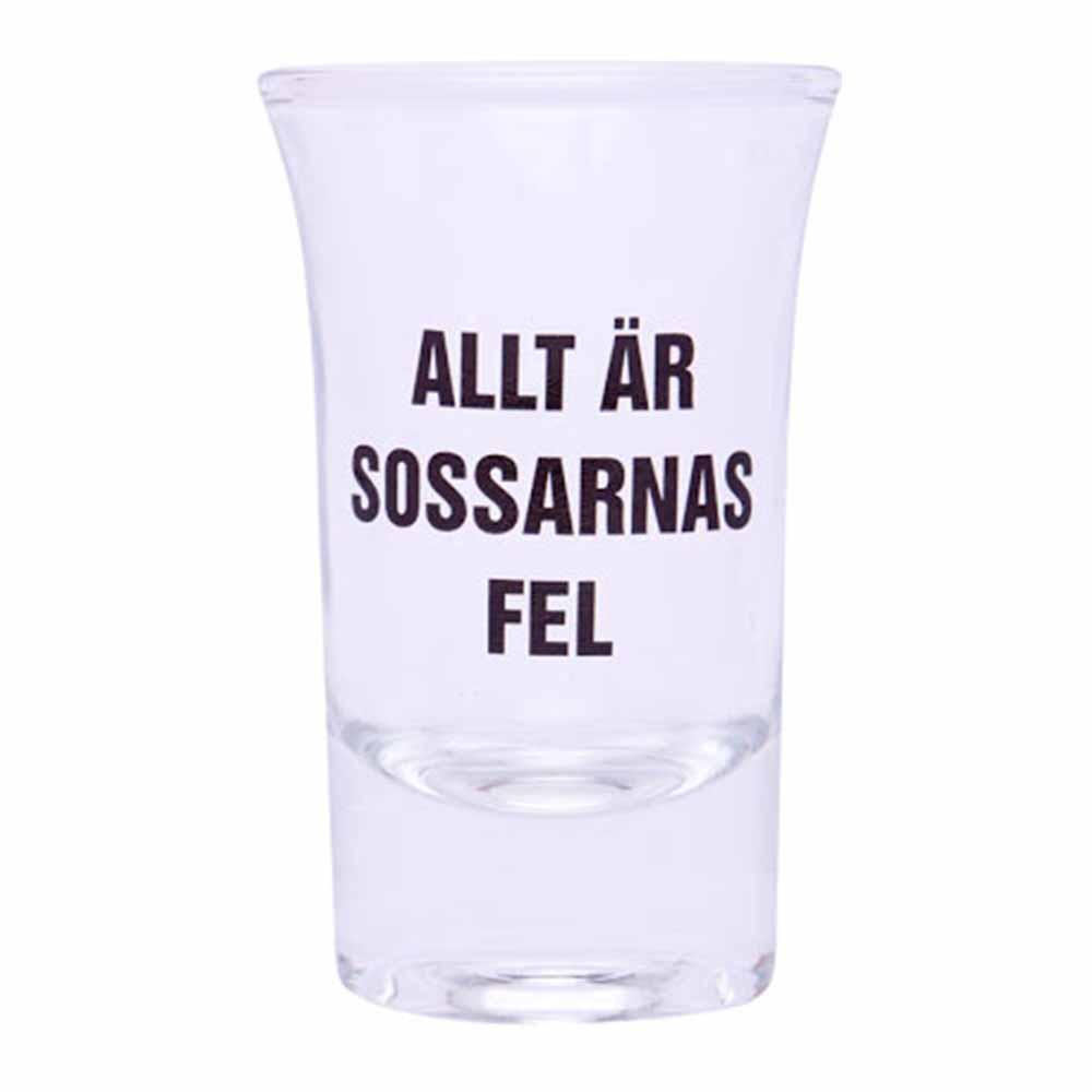 Snapsglas Allt Är Sossarnas Fel - 1-pack