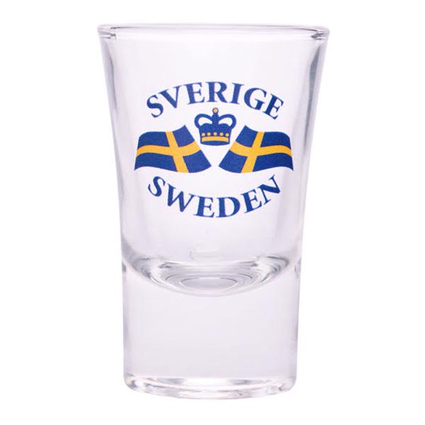 Snapsglas Svenska Flaggan - 1-pack