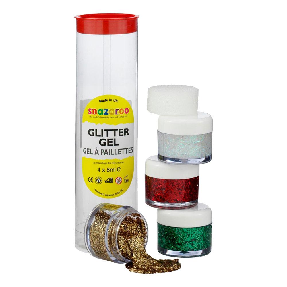 Snazaroo Glittergel Set - Guldmix