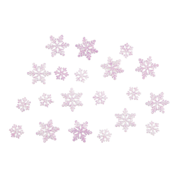 Konfetti Frost/Frozen Snöflingor Rosa - 20 gram