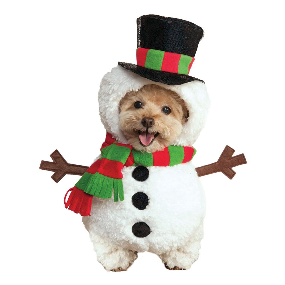 Snögubbe Hund Maskeraddräkt - Small
