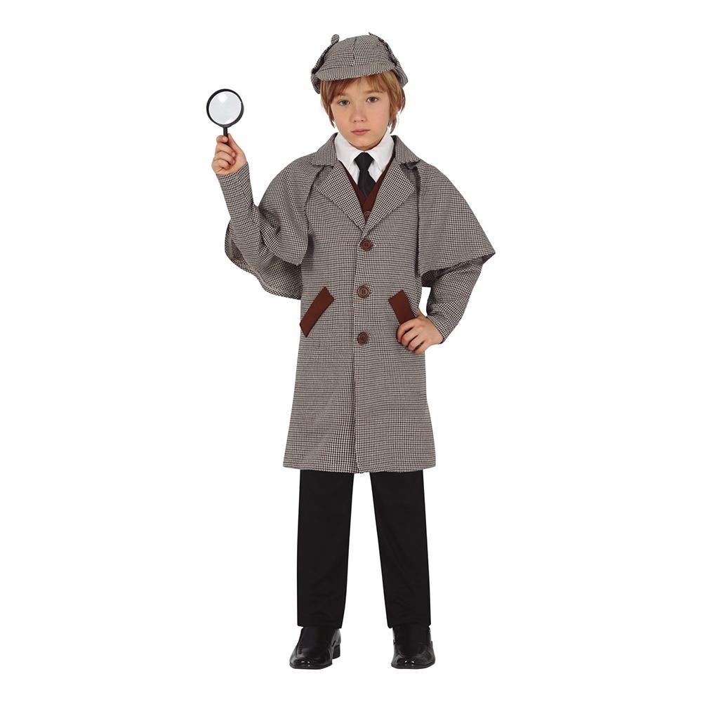 Snokande Detektiv Barn Maskeraddräkt - Small