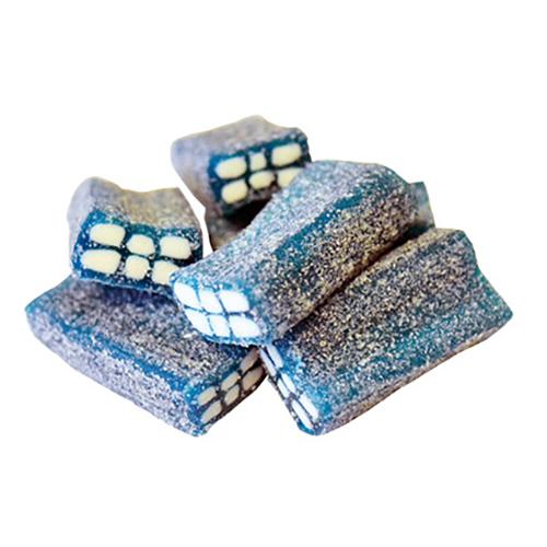 Sockrade Tegelstenar Blåbär Storpack - 1 kg