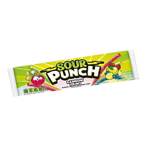 Sour Punch Rainbow Straws - 1-pack