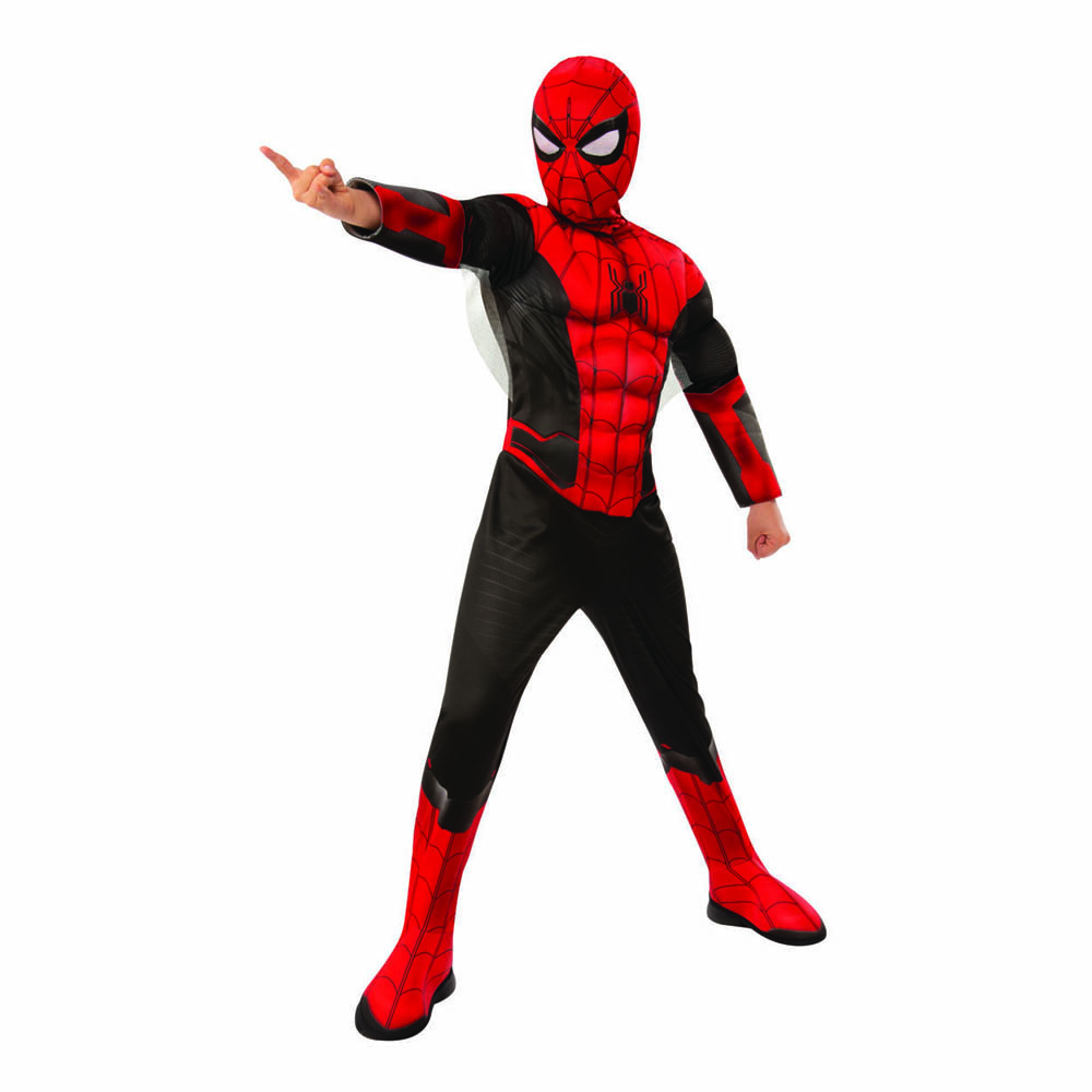 Spiderman Far From Home Deluxe Barn Maskeraddräkt - Small