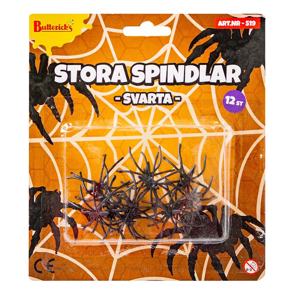 Spindlar Svarta Stora - 12-pack