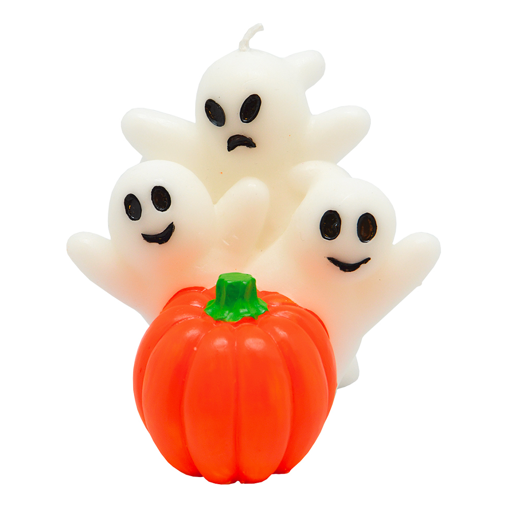 Spöken med Pumpa Stearinljus