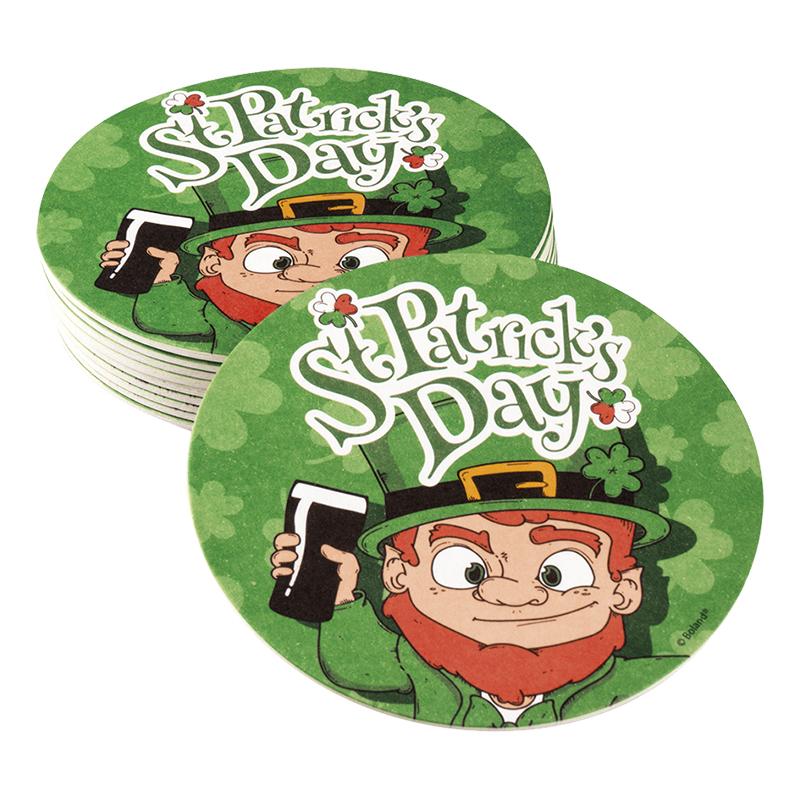 St Patricks Day Glasunderlägg - 10-pack
