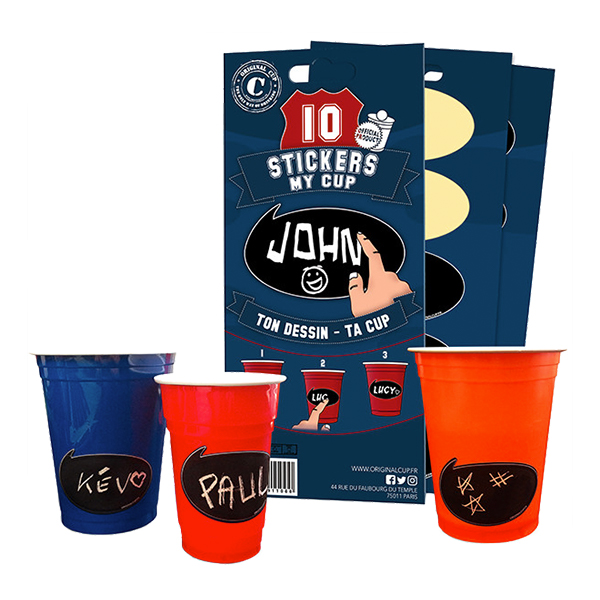 Stickers till Partycups - 10-pack