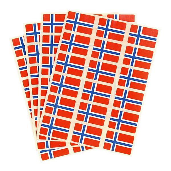 Stickersflaggor Norge - 72-pack