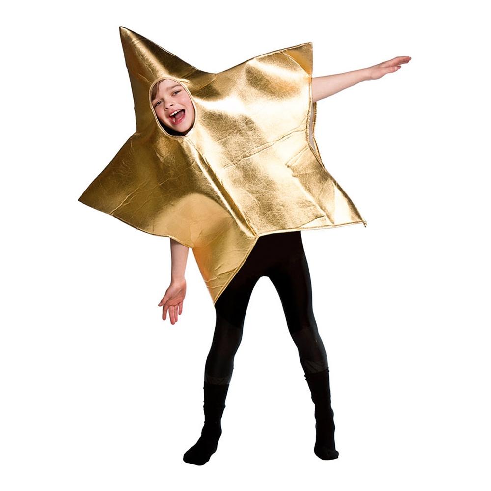 Stjärna Guld Barn Maskeraddräkt - One size
