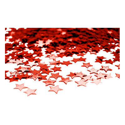 Stjärnkonfetti Röd
