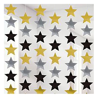 Stjärnor Hängande Dekoration | Hem//Teman//Färger//Guld | Partyoutlet