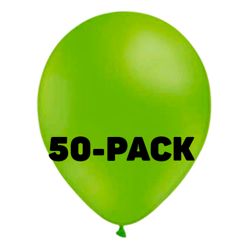 Stora Ballonger Limegröna - 50-pack