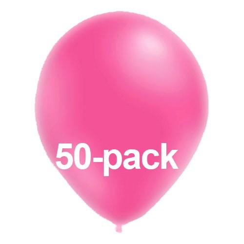 Stora Ballonger Neonrosa - 50-pack