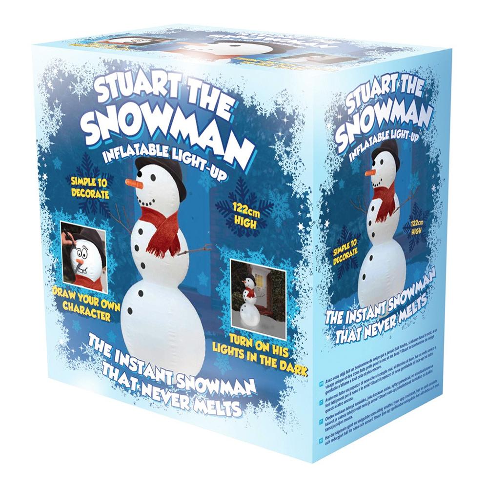 Stuart The Snowman Uppblåsbar Snögubbe