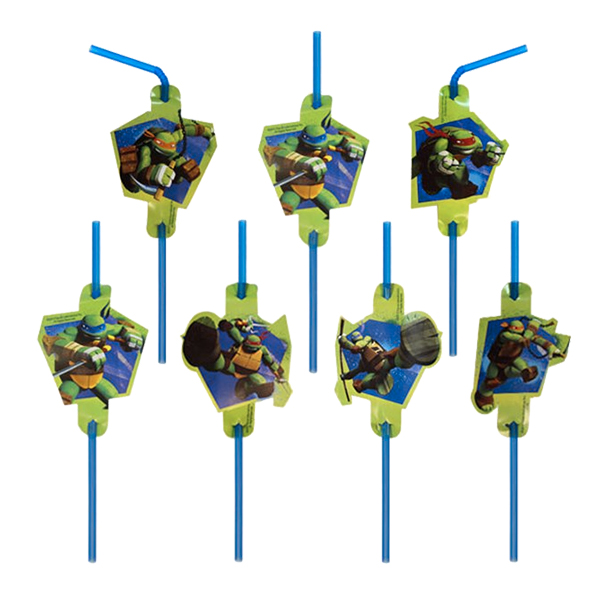 Ninja - Sugrör Ninja Turtles - 8-pack