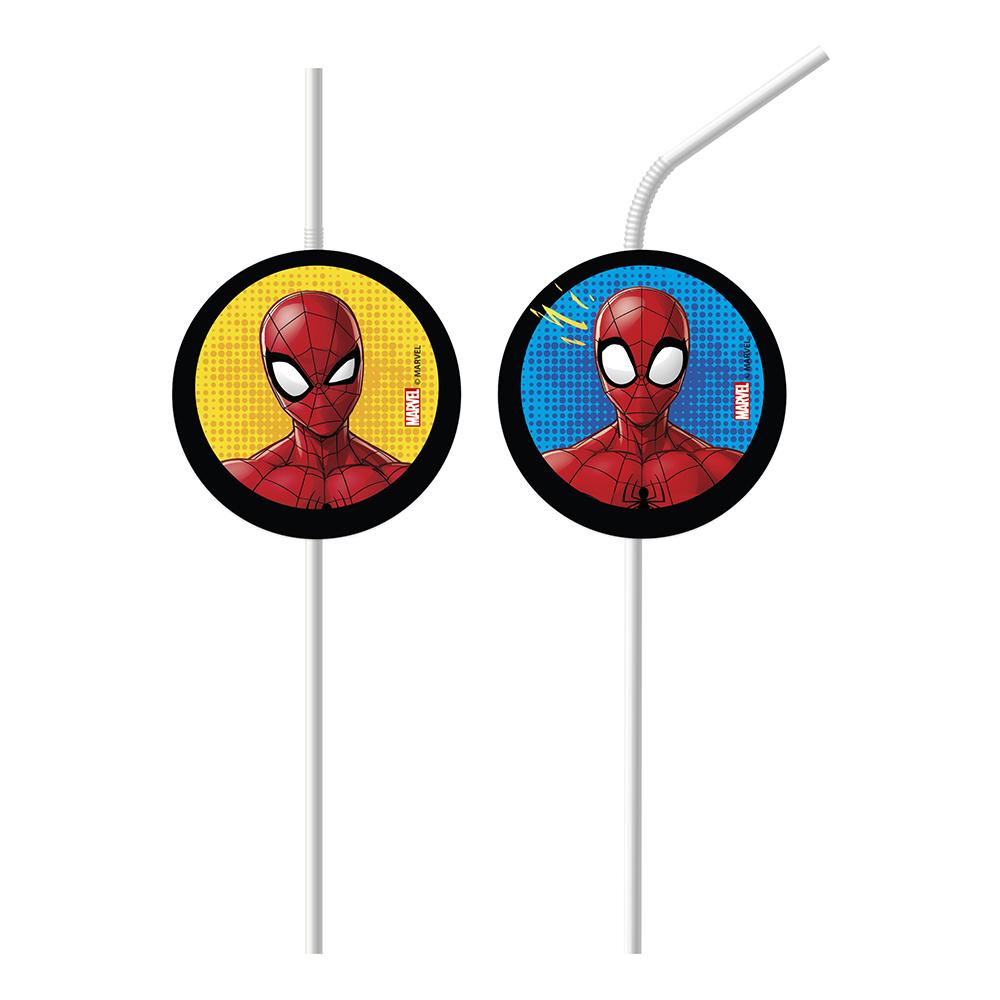 Sugrör Spiderman Team - 6-pack
