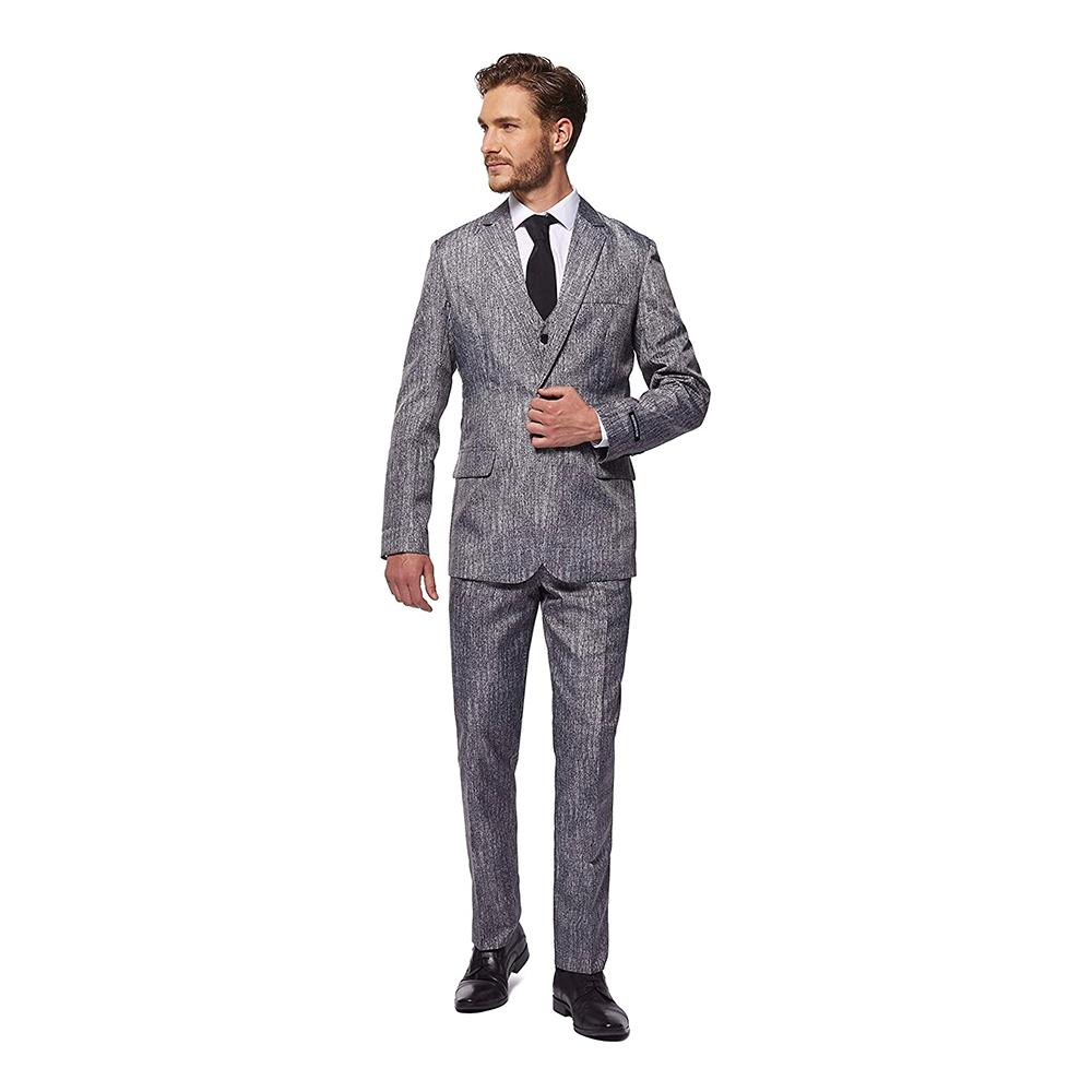 Suitmeister 20-tals Gangster Grå Kostym - Medium
