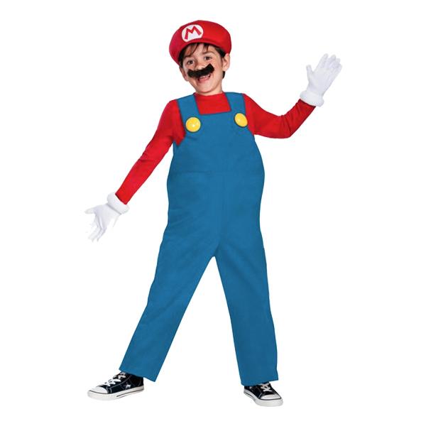 Super Mario Deluxe Barn Maskeraddräkt - Small