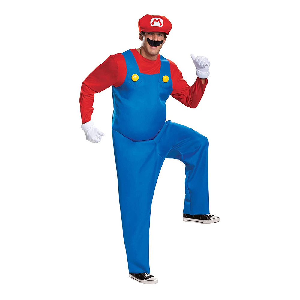 Super Mario Deluxe Maskeraddräkt - X-Large