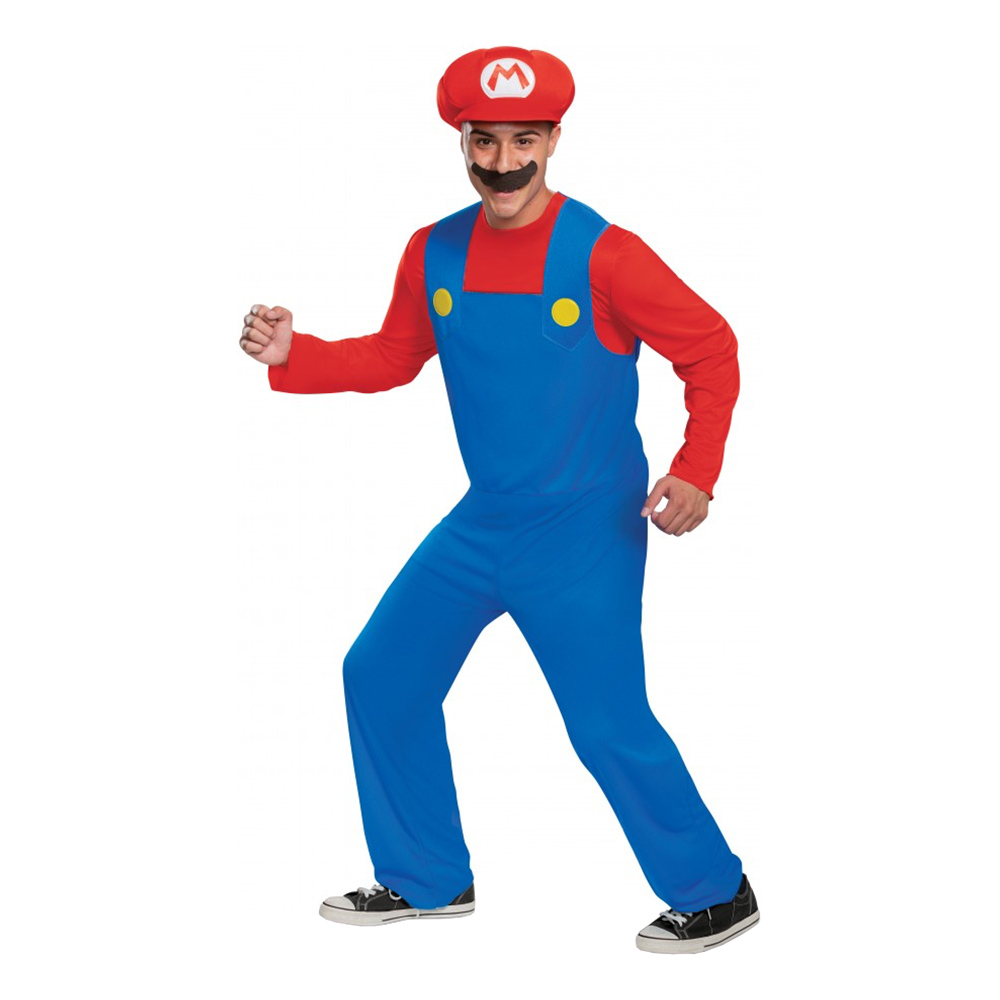 Super Mario Maskeraddräkt - Medium