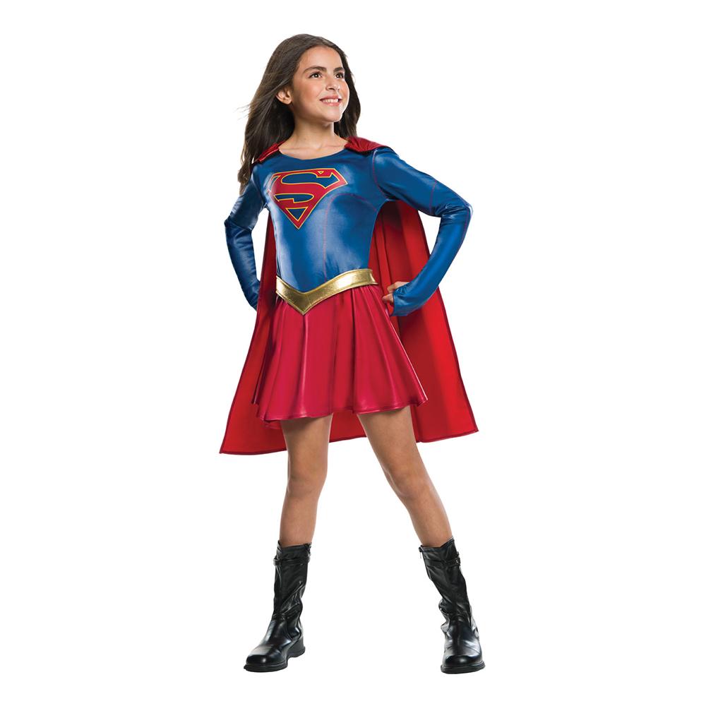 Supergirl TV-serie Barn Maskeraddräkt - Small
