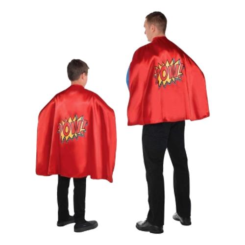 Superhjälte Cape Kort Röd - One size