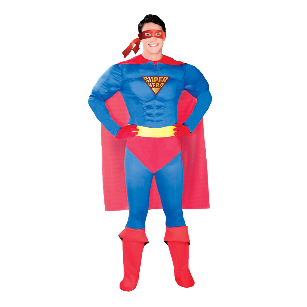 Superhjälte Maskeraddräkt - One size