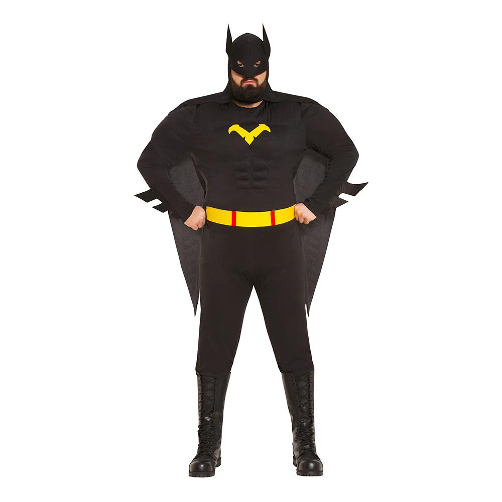 Superhjälte Svart Plus-size Maskeraddräkt - Plus-size