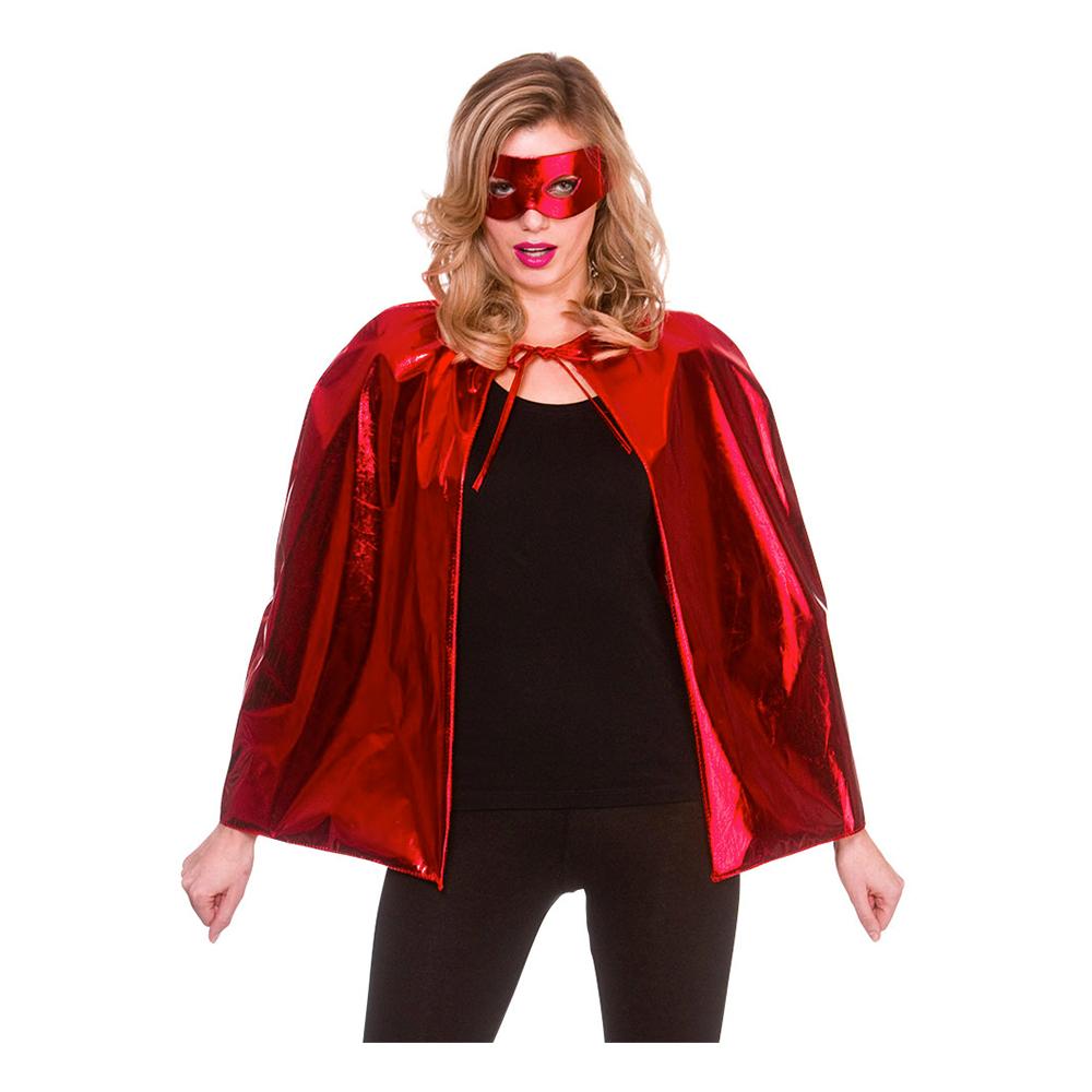 Superhjälte Tillbehörsset Röd Metallic - One size