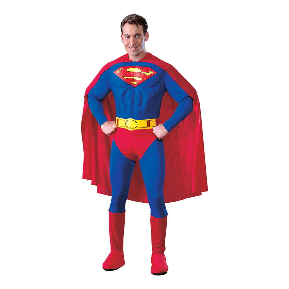 Superman med Muskler Maskeraddräkt - Small