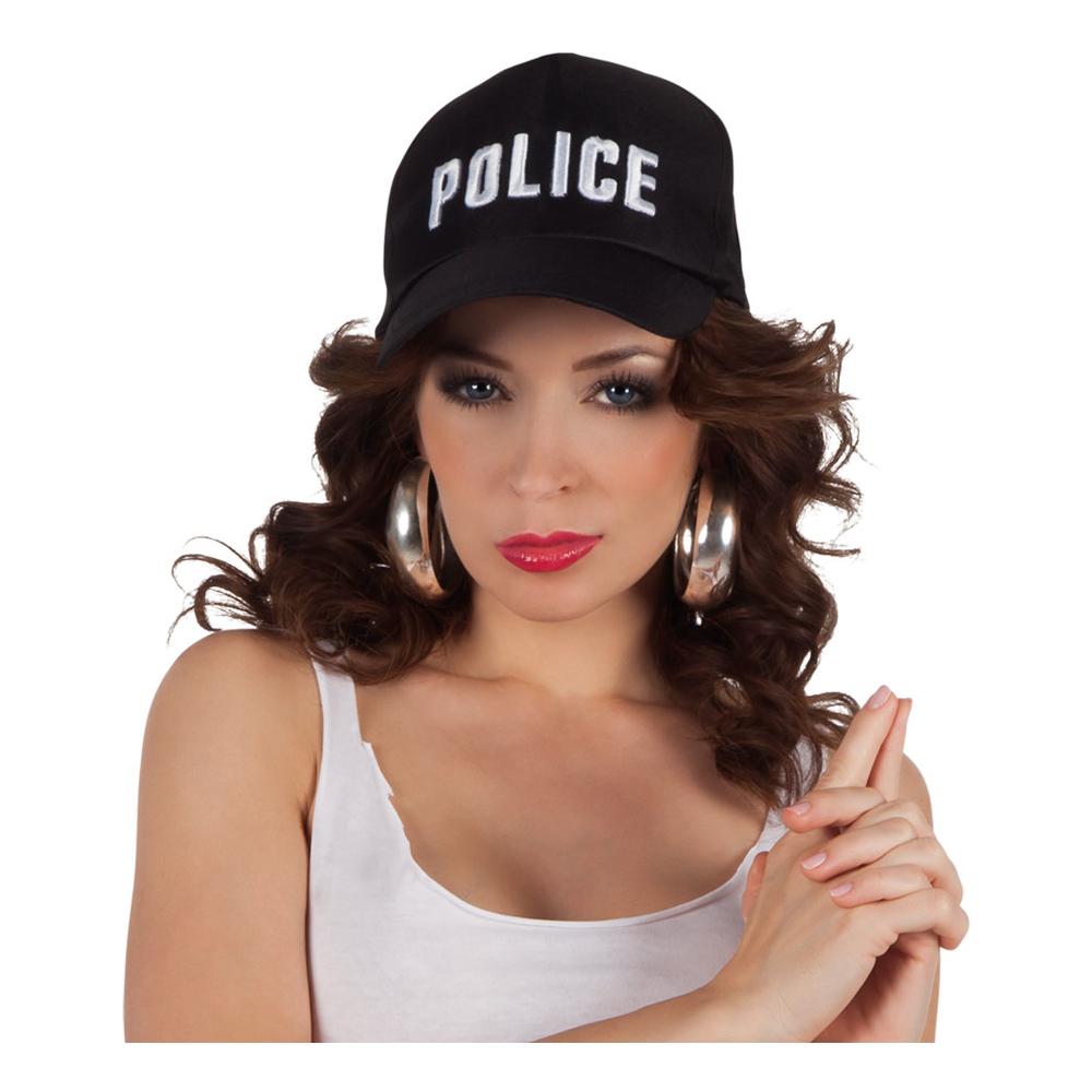 Svart Poliskeps - One size