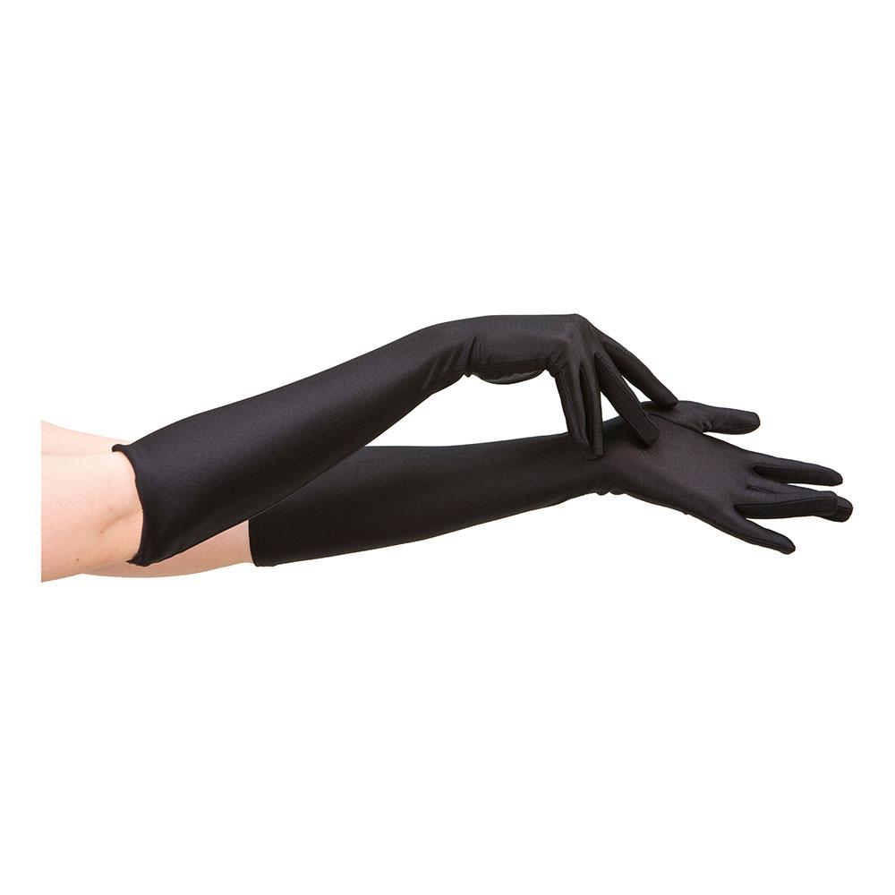Svarta Handskar Långa - One size