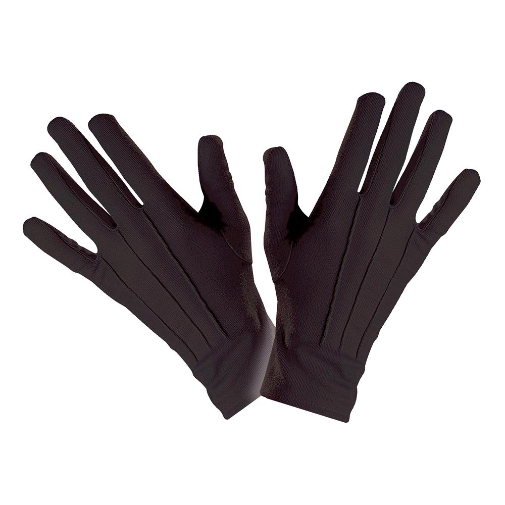 Svarta Handskar Ribbade
